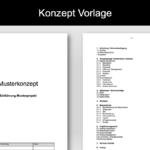 Konzept Vorlage im Word-Format