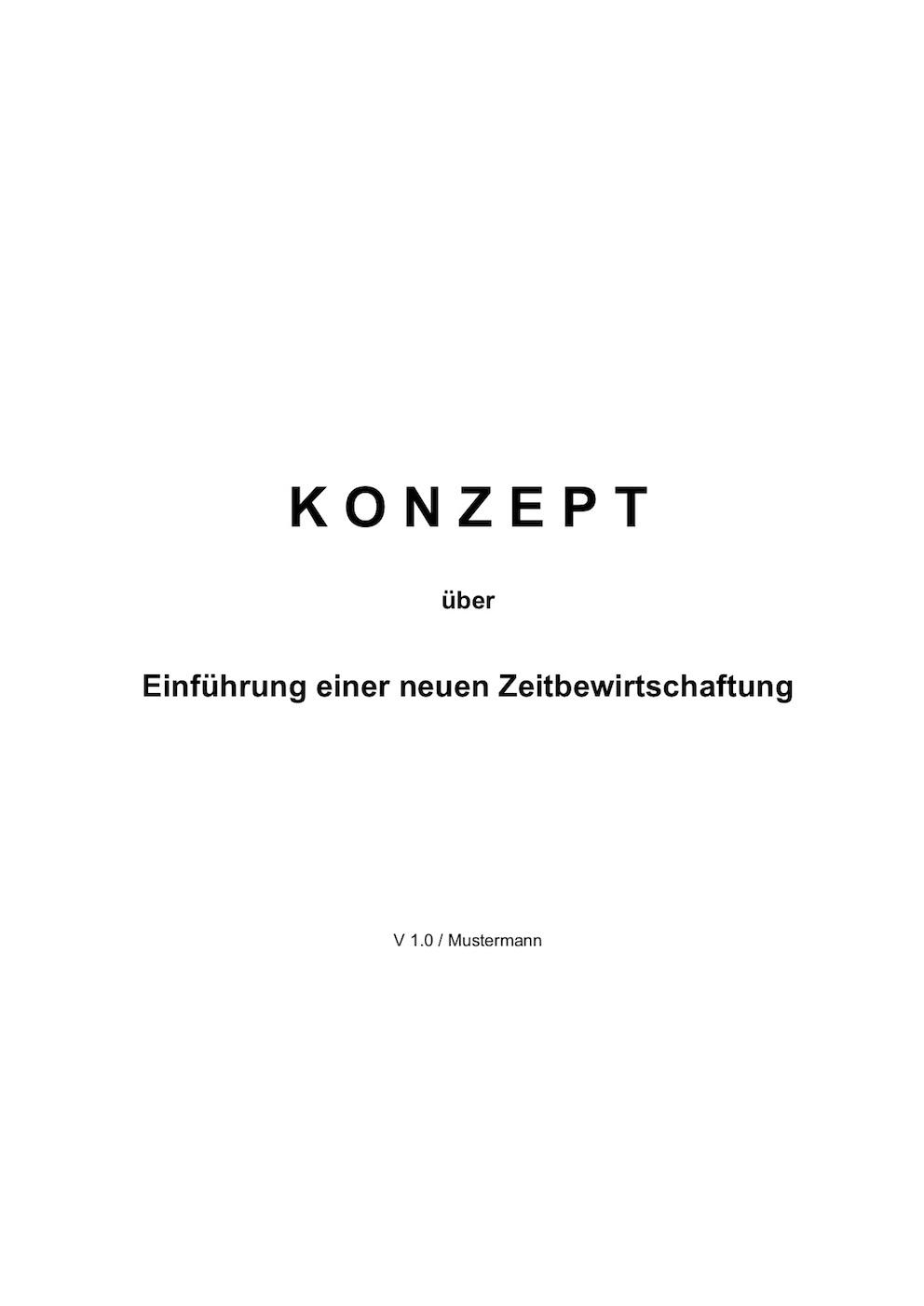 Inhaltsverzeichnis Vorlage (Word) – Muster-Vorlage.ch