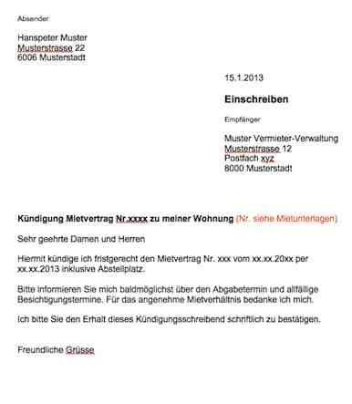 K Ef Bf Bdndigung Wohnung Vorlage Kostenlos