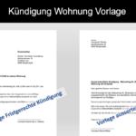 Kündigung Wohnung (Mietvertrag) Vorlage