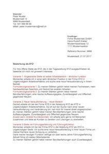 Bewerbungsschreiben Muster kostenlos – Muster Vorlage.ch