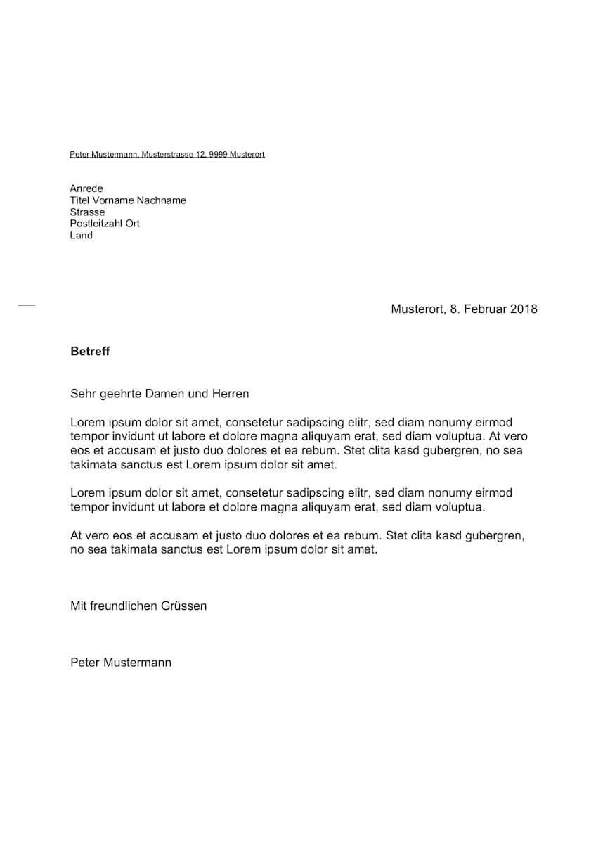 briefvorlage din 5008 - Formale Kundigung Muster