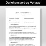 Darlehensvertrag Vorlage Schweiz (Privatdarlehen)