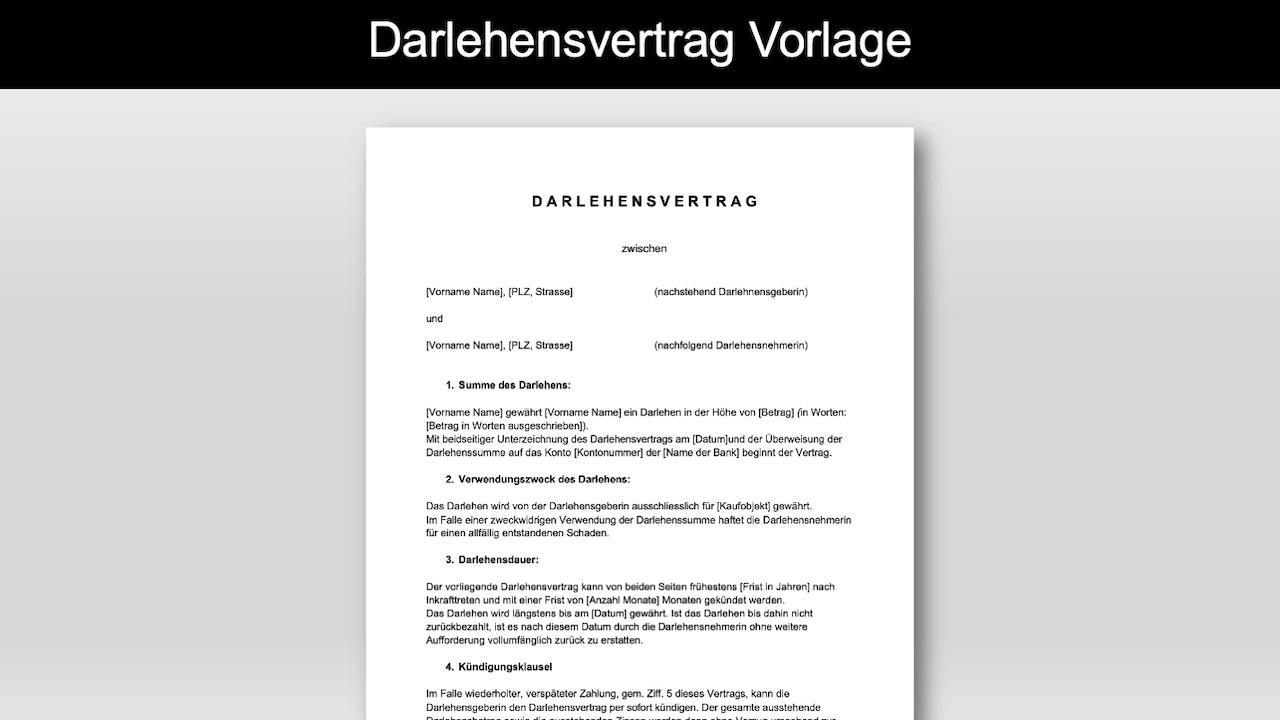 Download Darlehensvertrag Word Vorlage Einfach Autofreund24 15