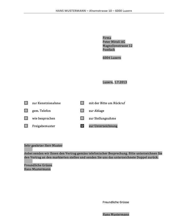 Muster Kundenschreiben Mustervertrge Und Briefe So Bearbeiten Sie