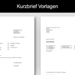 Kurzbrief Vorlage (Word)