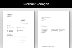 Kurzbrief Vorlage Zum Sofortigen Download 2