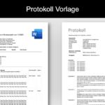 Protokoll Vorlage für Word & Excel