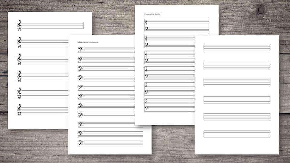 notenblatt leer pdf word mit notenschl ssel kostenlos downloaden. Black Bedroom Furniture Sets. Home Design Ideas