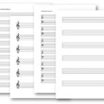 Notenblatt leer (PDF & Word) mit Notenschlüssel