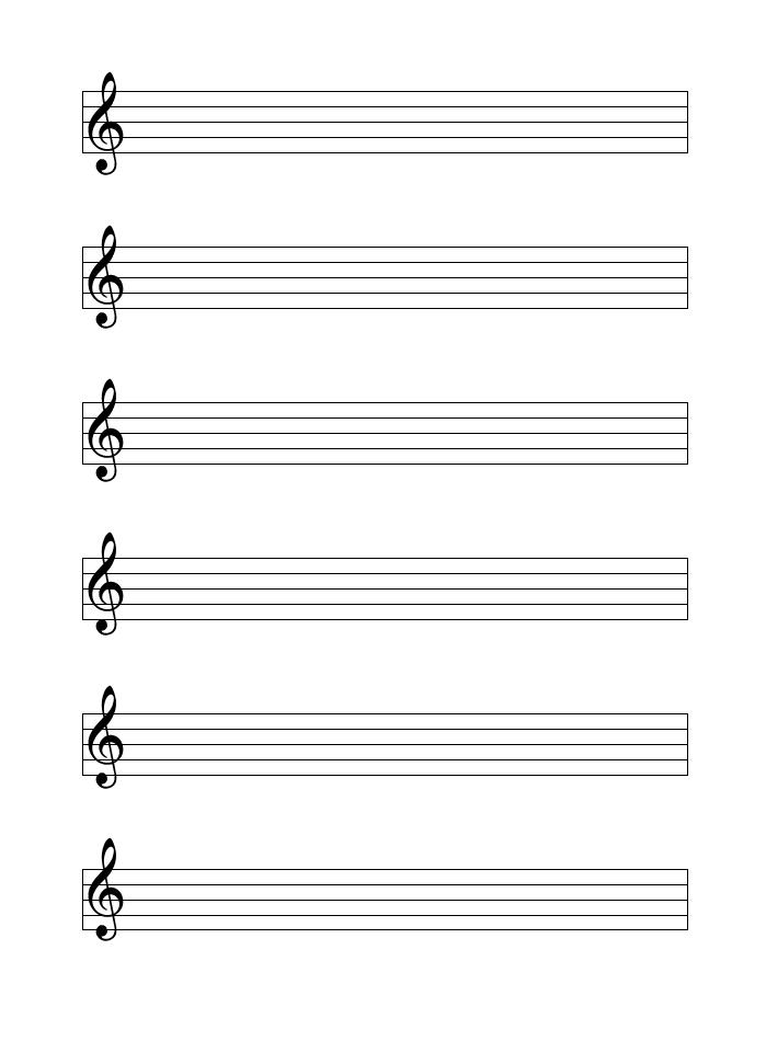 Notenblatt leer (PDF & Word) mit Notenschlüssel | Muster Vorlage.ch
