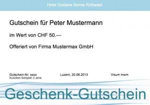 Gutschein Vorlage Gratis (Word-Format) | Muster-Vorlage.ch