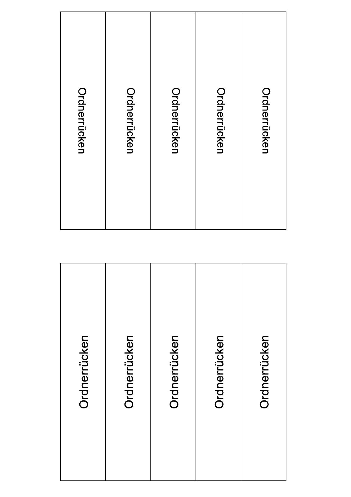 Ordnerrücken Vorlage Bundesordner 4 cm