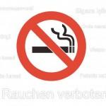 Rauchen verboten Schild (Word & PDF)