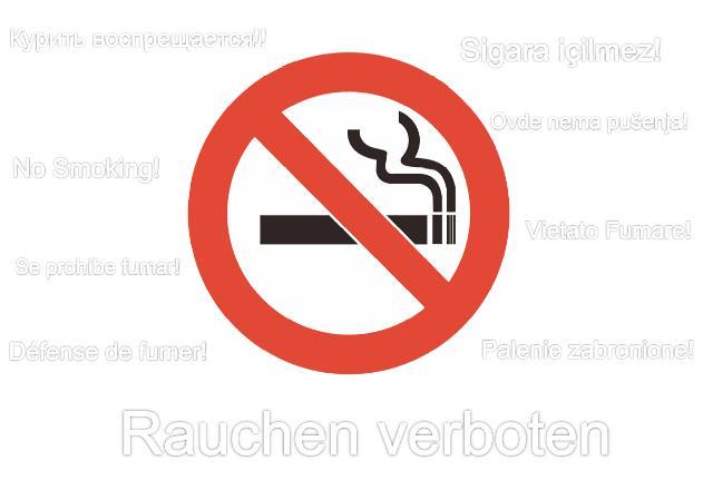 Rauchen verboten Schild (Word & PDF) | Muster Vorlage.ch