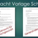 Vollmacht Vorlage & Muster Schweiz