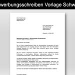 Bewerbungsschreiben (Anschreiben) Vorlage Schweiz