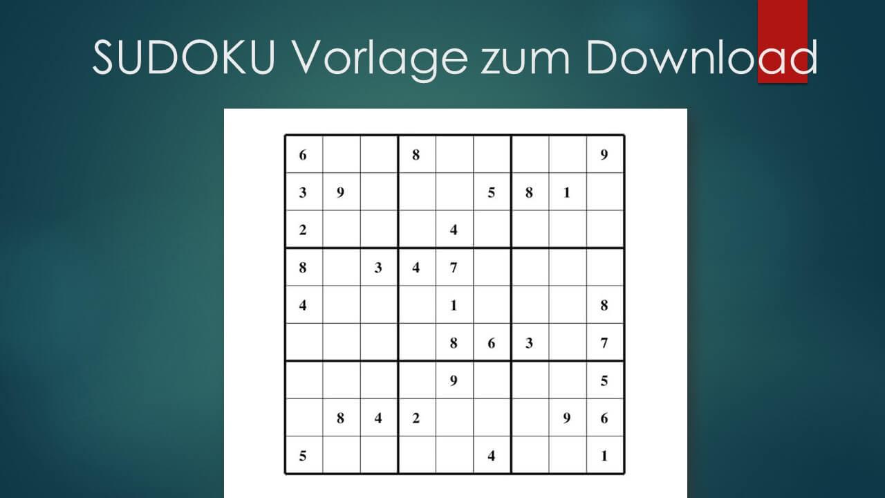 Sudoku Zum Ausdrucken Leicht Mittel Schwer Muster