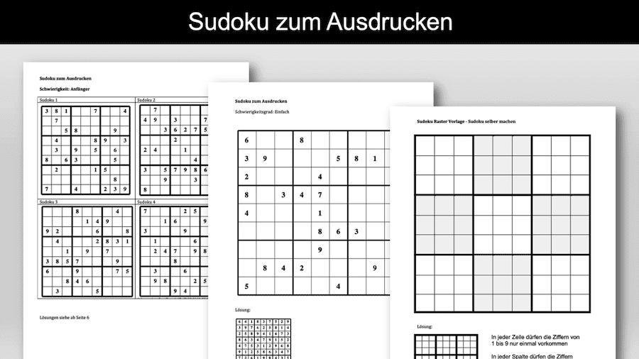 Sudoku zum Ausdrucken Header