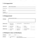 Mietvertrag Vorlage für Wohnräume