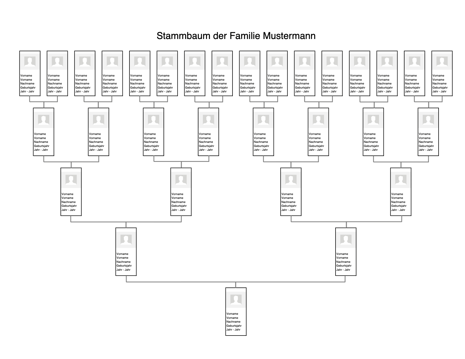 10 Generation Family Tree Template Excel 5
