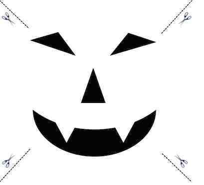 Kürbis schnitzen Halloween Vorlage