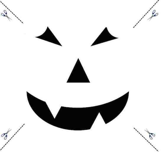 Halloween Kürbis Gesicht Vorlage schnitzen