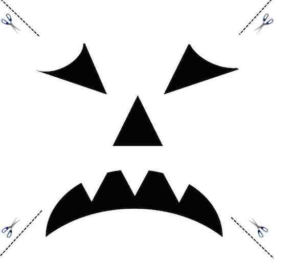Halloween Kürbis Schnitzvorlage