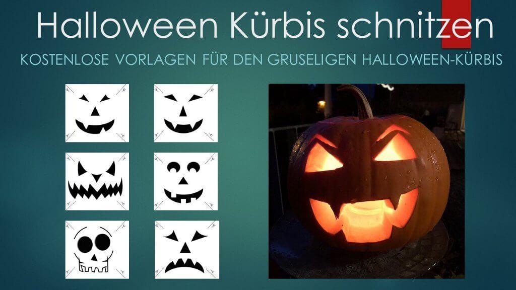 Halloween Kürbis Schnitzvorlagen