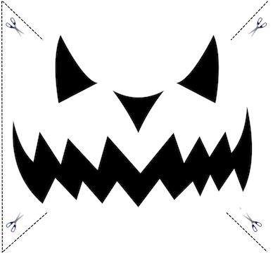 Schnitzvorlage Halloween Kürbis Nr. 6