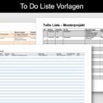 To Do Liste Vorlage (Word & Excel)