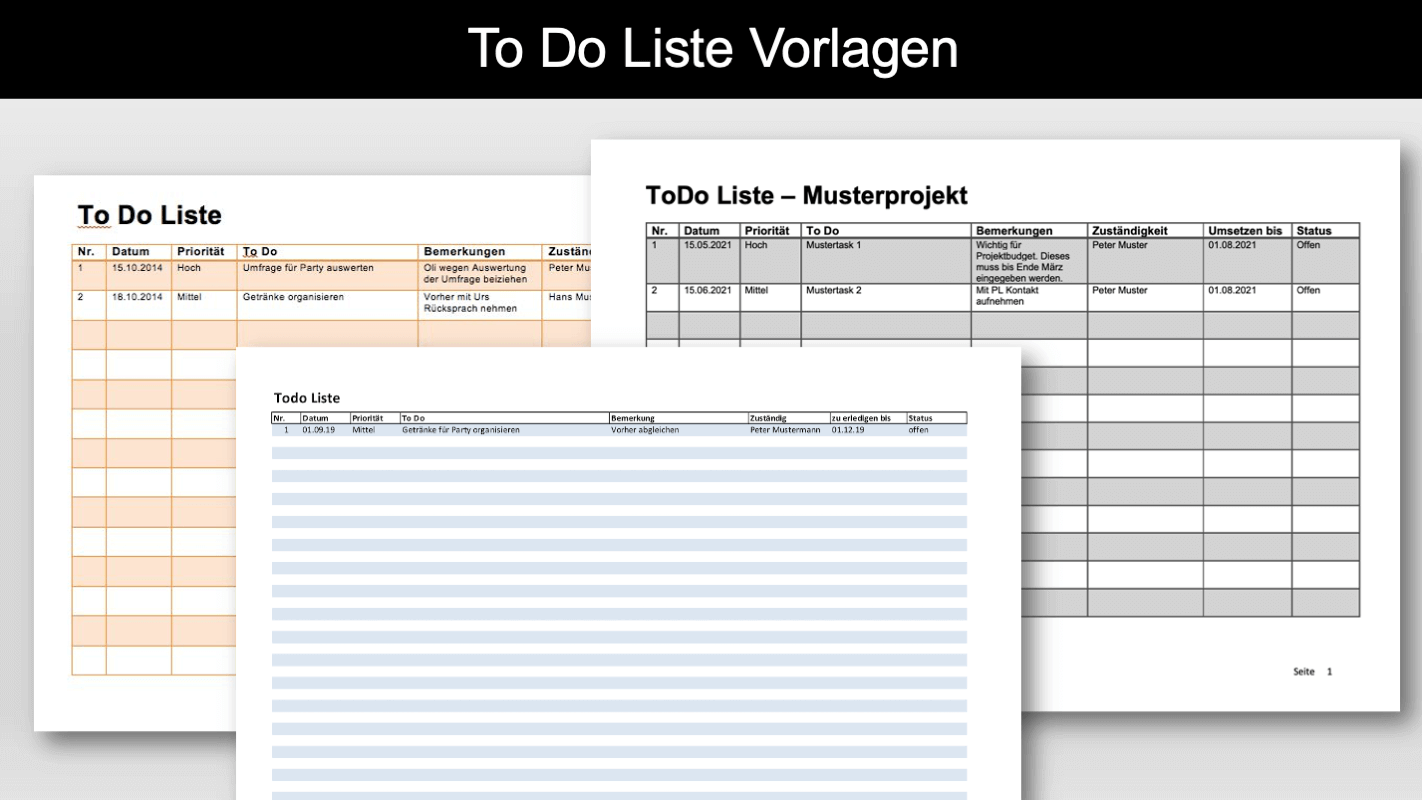 To-Do-Liste Vorlage Header