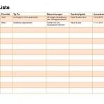 To Do Liste Word und Excel