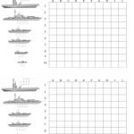Schiffe versenken Vorlage zum Ausdrucken