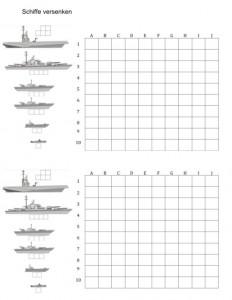 Schiffe Versenken Zum Ausdrucken