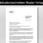 Motivationsschreiben Muster Vorlage