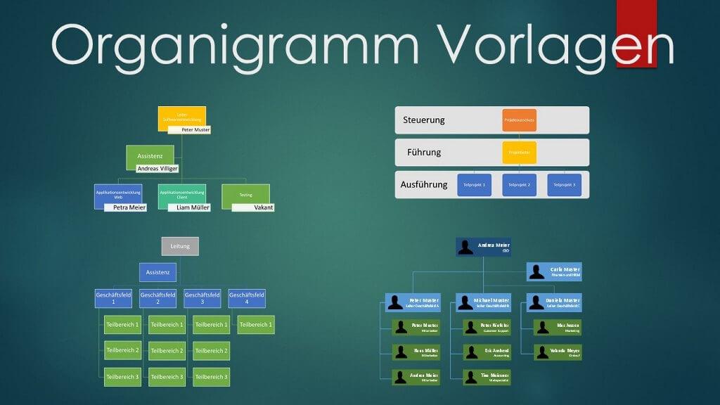 Organigramm Vorlagen Word und Powerpoint