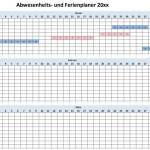 Ferienplaner Excel Vorlage (Schweiz)