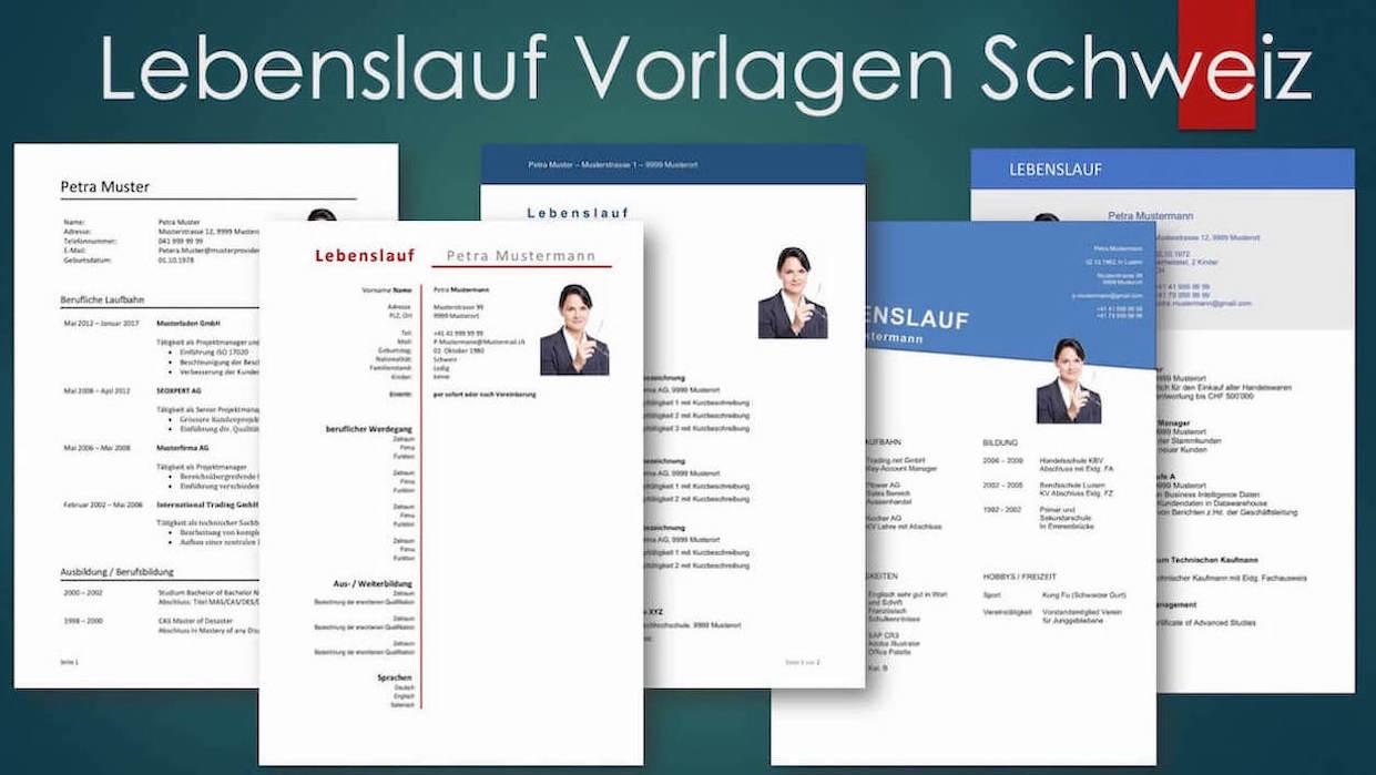 Vorlage Lebenslauf Schweiz Kostenlose Vorlagen Muster Vorlagech
