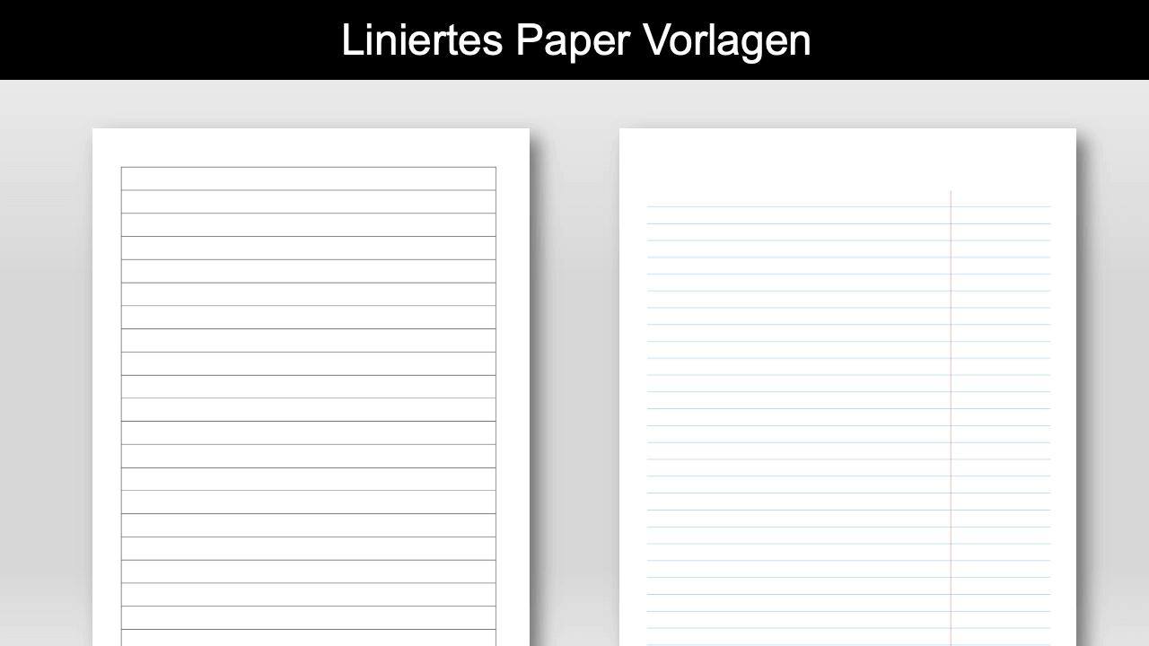 Liniertes Papier Vorlage Header