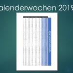 Kalenderwochen 2019 Schweiz