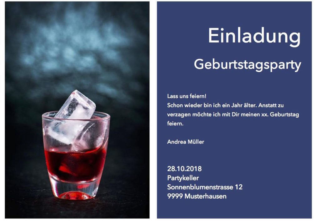 Einladung Vorlage Zu Party Geburtstag Essen: Muster Und Vorlagen Kostenlos