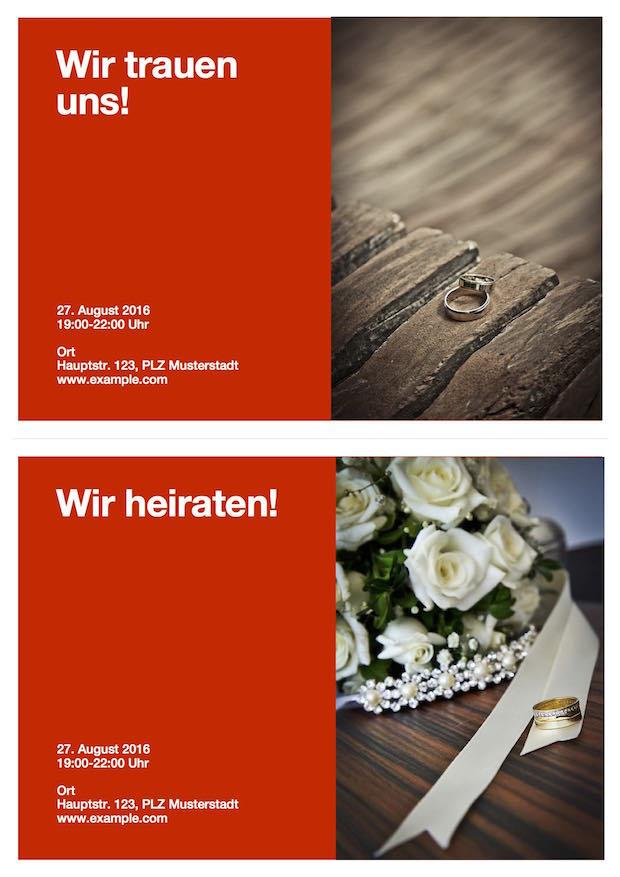 Vorlage Hochzeitseinladung