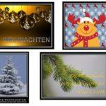 Weihnachtskarten Vorlagen kostenlos (Word)