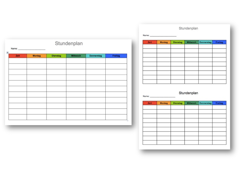 Wochenplan Vorlage in Word und Excel – Muster-Vorlage.ch