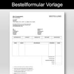 Bestellformular Vorlage (Word)