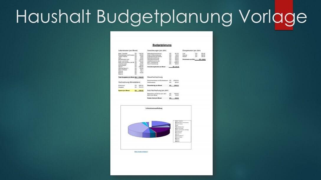 Budgetplanung Vorlage Haushaltsbudget Familie Muster Vorlagech