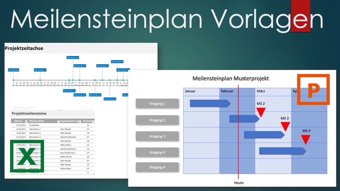 Meilensteinplan Excel und Powerpoint
