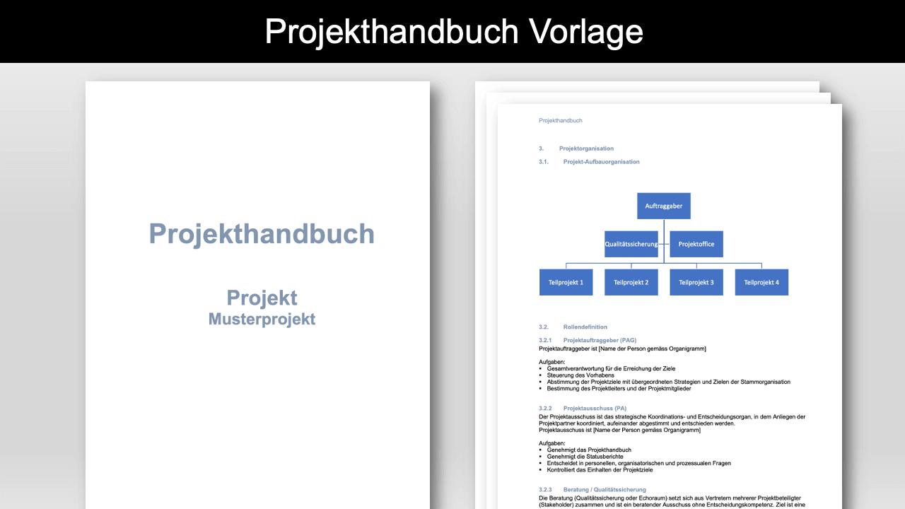 Projekthandbuch Vorlage Header
