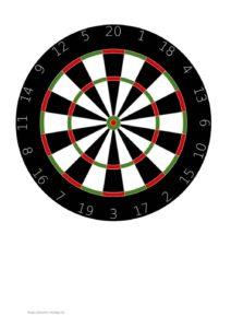Zielscheibe Vorlage 2 Darts Format